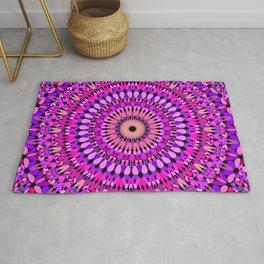 Pink and Purple Gravel Mandala Rug