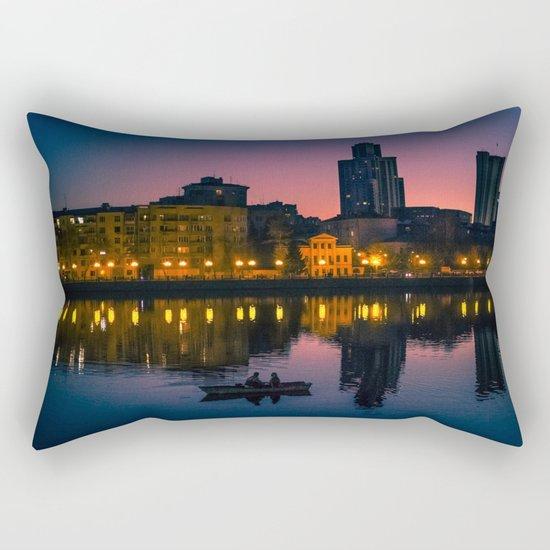 Night boating Rectangular Pillow