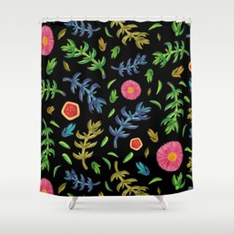 Sea flowers for the Night Shower Curtain