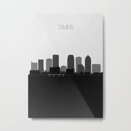 City Skylines: Tampa Metal Print