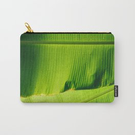 Two Large Lime green Banana Leaves Carry-All Pouch