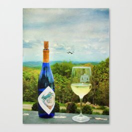 Wine and a View Canvas Print