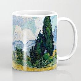 Wheat Field with Cypresses - Vincent van Gogh Coffee Mug