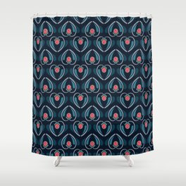 a lot of hearts for art deco Shower Curtain