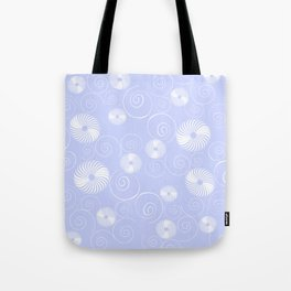 White Spirals Tote Bag