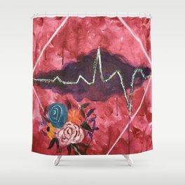 Cardiac Arrangement Shower Curtain