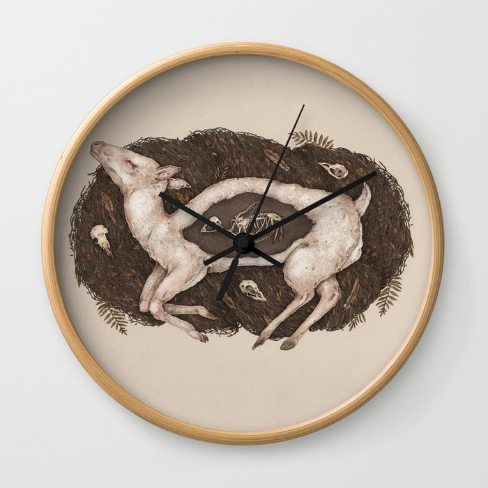 Predaceous Herbivore, Ghost Deer Wall Clock