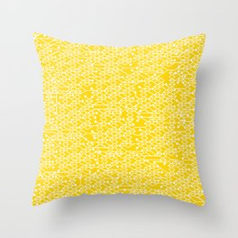 Microchip Pattern (Yellow) Throw Pillow