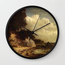 At Larchmont Manor Long Island Sound New York 1890 By David Johnson | Reproduction | Romanticism Lan Wall Clock