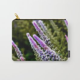 Photograph Purple and Green Prairie Blazing Star Wildflower Carry-All Pouch