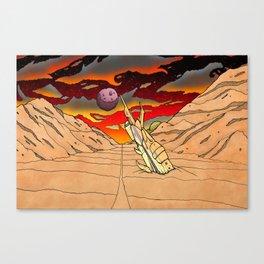 Space crash Canvas Print
