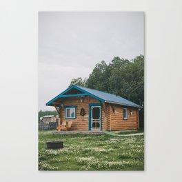 Moose Cabin Canvas Print