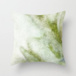 stained fantasy greenish veins Throw Pillow