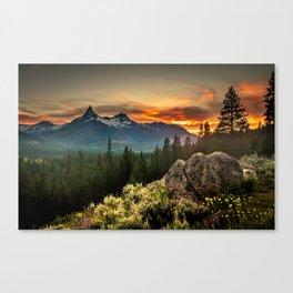 Sunset over Pilot Peak Canvas Print