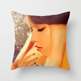 Lisa - Black Pink (Square two) Throw Pillow