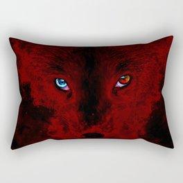 arctic fox bicolor eyes ws sub Rectangular Pillow