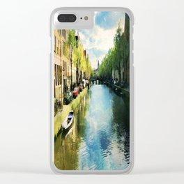 Amsterdam Waterways Clear iPhone Case
