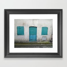 House in Honfleur, France Framed Art Print