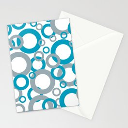 AI Aqua 098-59-30 Coloro 2021 Color Of the Year and Good Gray 122-66-02 Funky Geometric Rings Stationery Cards