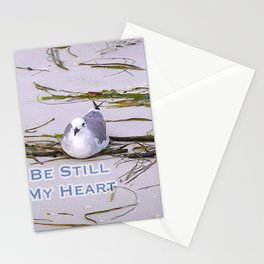 Seagull Be Still My Heart Beach Stationery Cards