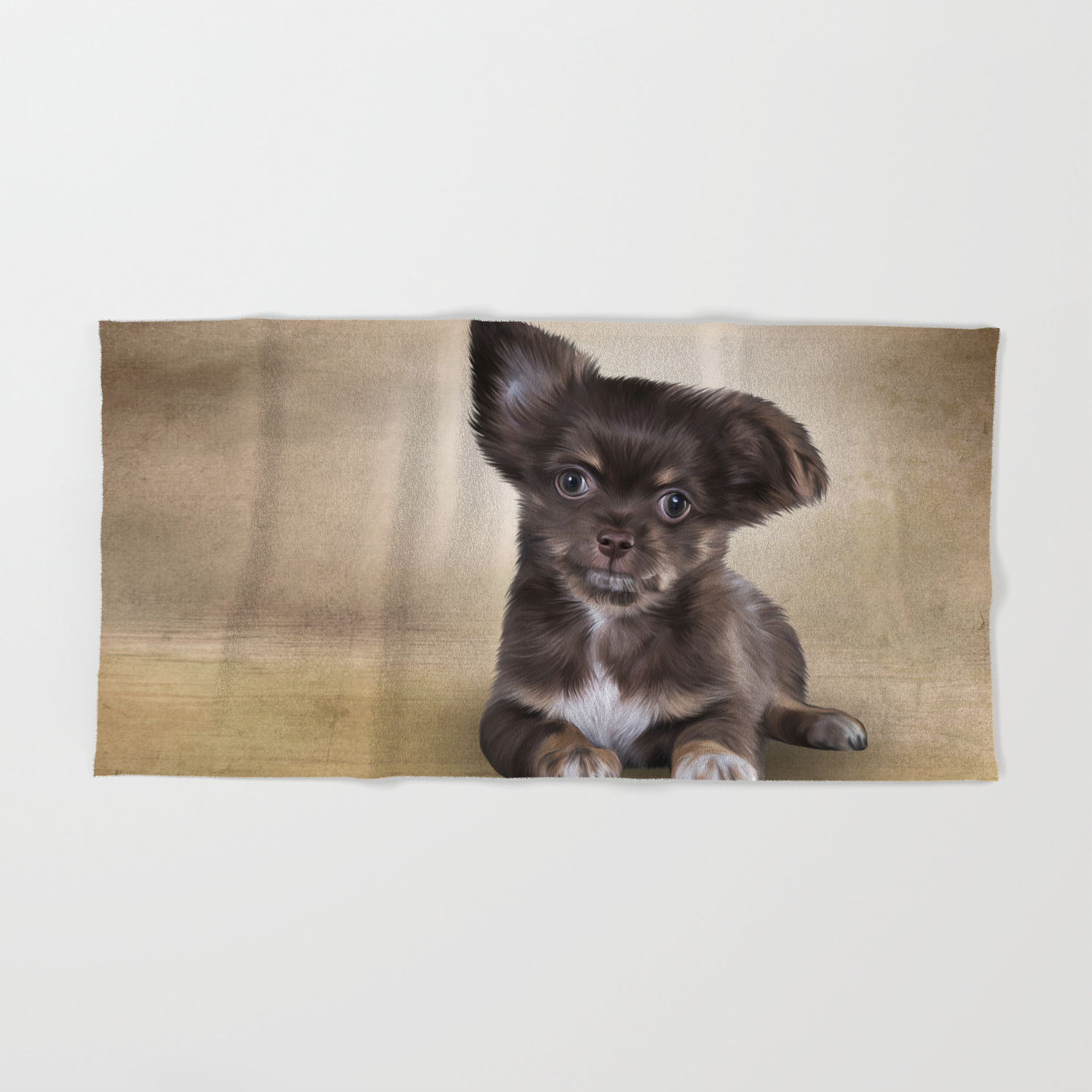 Drawing Puppy Chihuahua Hand Bath Towel By Bonidog Society6