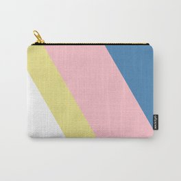 Blue, Pink and Yellow Stripes Carry-All Pouch