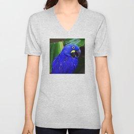 Elegant Hyacinth Macaw Unisex V-Neck