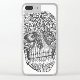 skull, the difference is this is me underneath your skin..... Clear iPhone Case