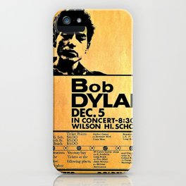 Vintage 1964 Bob Dylan at Wilson High School Poster iPhone Case