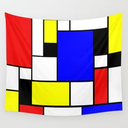 Mondrian Style Wall Tapestry