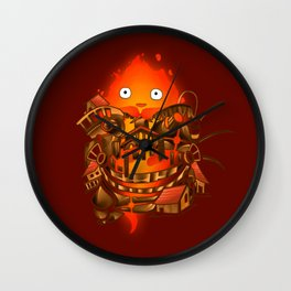 Pocket Calcifer Wall Clock