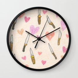 cute knifes Wall Clock