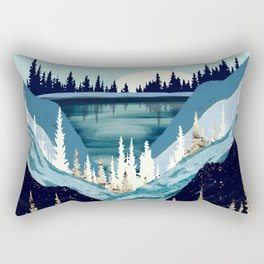 Blue Forest Lake Rectangular Pillow
