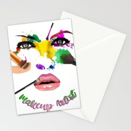 MakeUp Artist, Make up master, fashion Stationery Cards