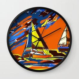 Sunset at Mangles Bay Wall Clock