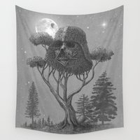 power Wall Tapestries featuring Dark Side of The Forest  by Terry Fan
