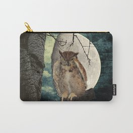 Great Horned Owl Bird Moon Tree A138 Carry-All Pouch