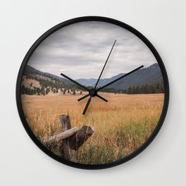 The Montana Collection - Durnam Meadow Wall Clock