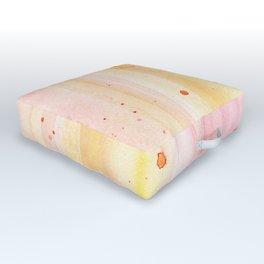 Pink Orange Rain Watercolor Texture Splatters Outdoor Floor Cushion
