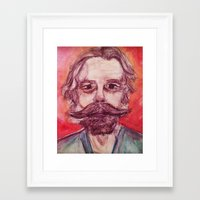 grateful dead Framed Art Prints featuring Bob Weir Watercolor Portrait Grateful Dead by Acorn