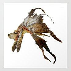 Chief Howling Jowls Art Print