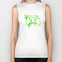 xbox Biker Tanks featuring Xbox One Controller by meganjamo