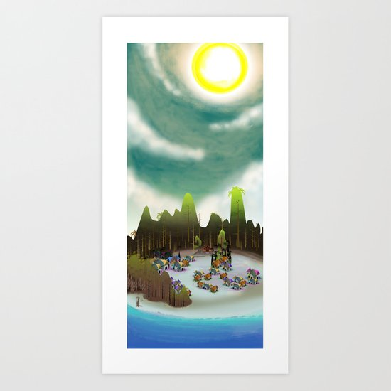 PEACEFUL LIVING Art Print