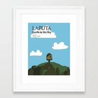 laputa Framed Art Prints featuring Laputa Castle in the Sky by okayleigh