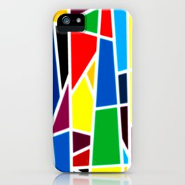 Geometric Shapes - bold and bright iPhone Case