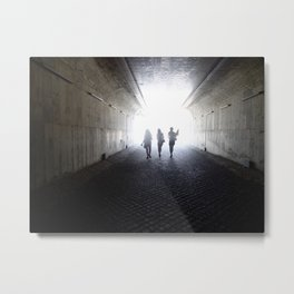 Light Tunnel Metal Print