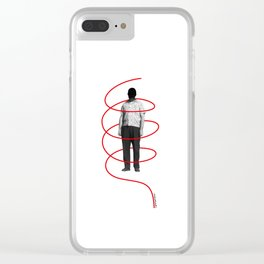 Red Thread 1 Clear iPhone Case