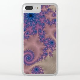 Pillows of Passion - Fractal Art Clear iPhone Case