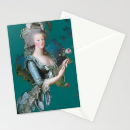 marie Antoinette teal Stationery Cards