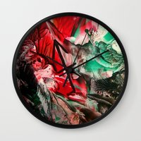 sagittarius Wall Clocks featuring Sagittarius  by ART de Luna